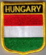 Hungary Embroidered Flag Patch, style 07.
